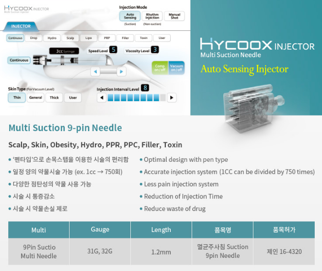 Hycoox 9 pin needle